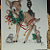 Large Holiday Deer w/ Racoon Ceramic Decal D10-28