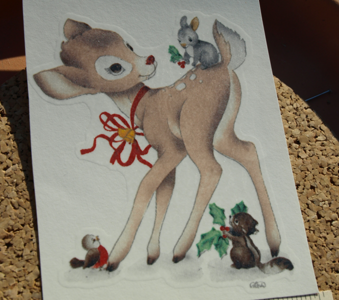 Holiday Deer and Animals Ceramic Waterslide D10-26