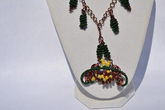 The Gathering Wire Wrapped Necklace