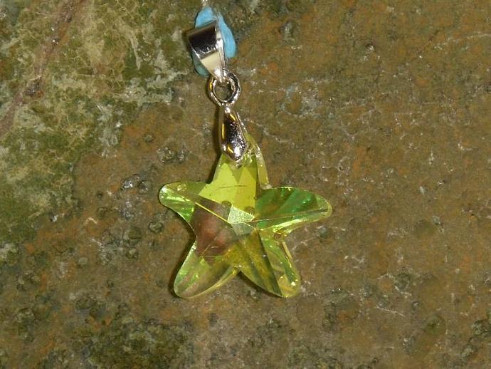 Crystal Pendant- sunny starfish shape