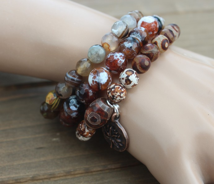 Stunning Set of Tribel Bracelets Boho jewelry by KnottedUp