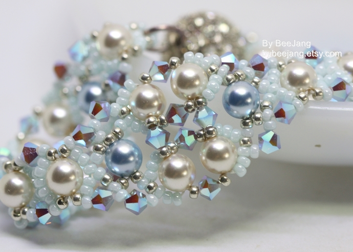 Beading Tutorial, Andrina, Bracelet Patterns, Beadweaving Tutorials, Bracelet