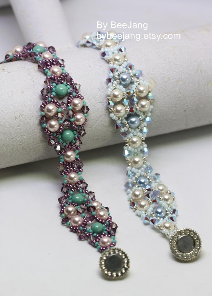 Beading Tutorial, Andrina, Bracelet Patterns, Beadweaving Tutorials, Bracelet