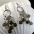 Long dangly earrings with smoky glass drops