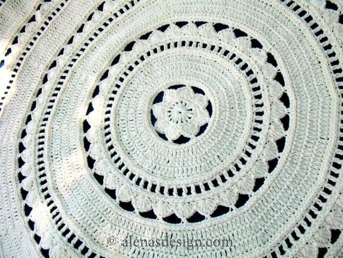 Crochet Afghan Pattern 233 Round Floral Blanket Baby Crochet Blanket Crochet