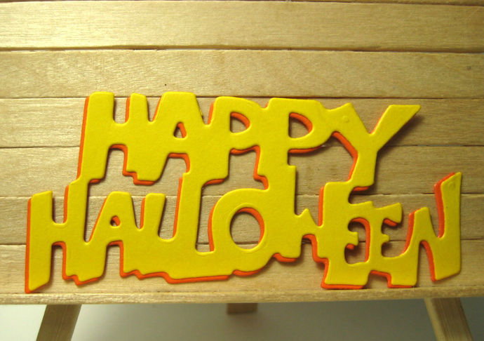 Happy Halloween Cutting Die Style #2