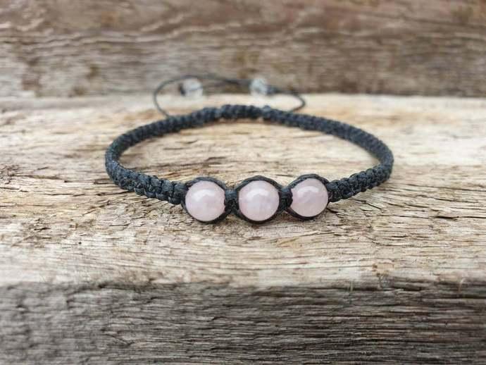 Rose Quartz Shambala Bracelet   deep inner healing ~ feelings of peace ~ dispels
