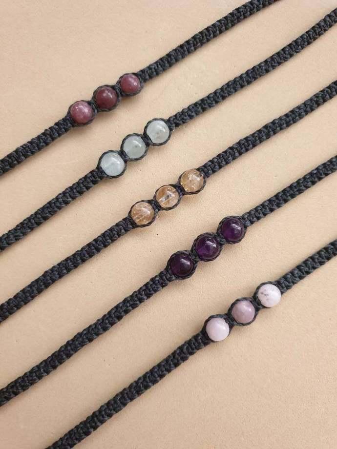 Apatite Shambala Bracelet | facilitates public speaking ~ draws off negativity ~