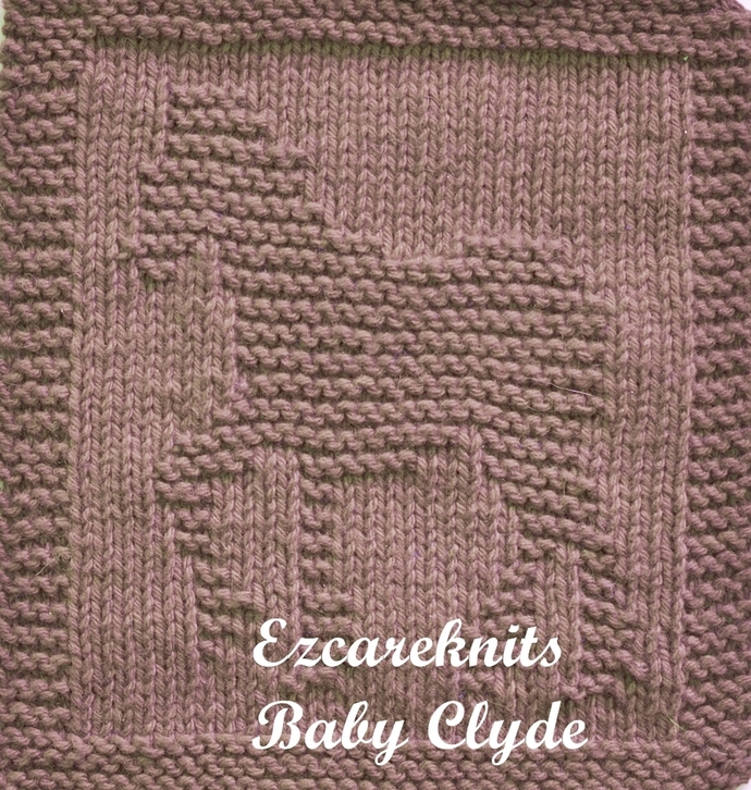 BABY CLYDE-Knitting Pattern, Face Cloth, Spa Cloth, Blanket Square, handicraft,