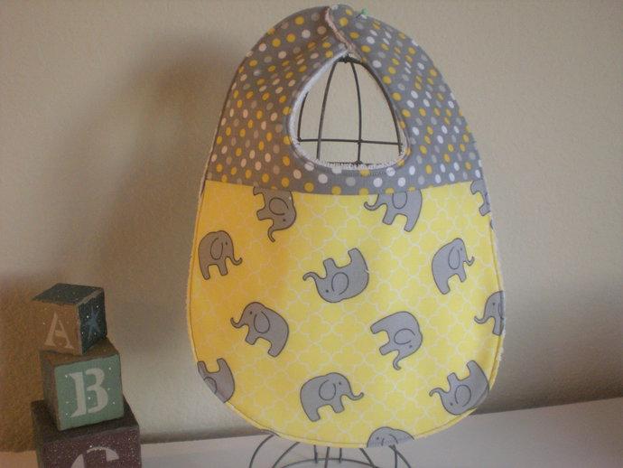 Elephant/Animal baby drool bib