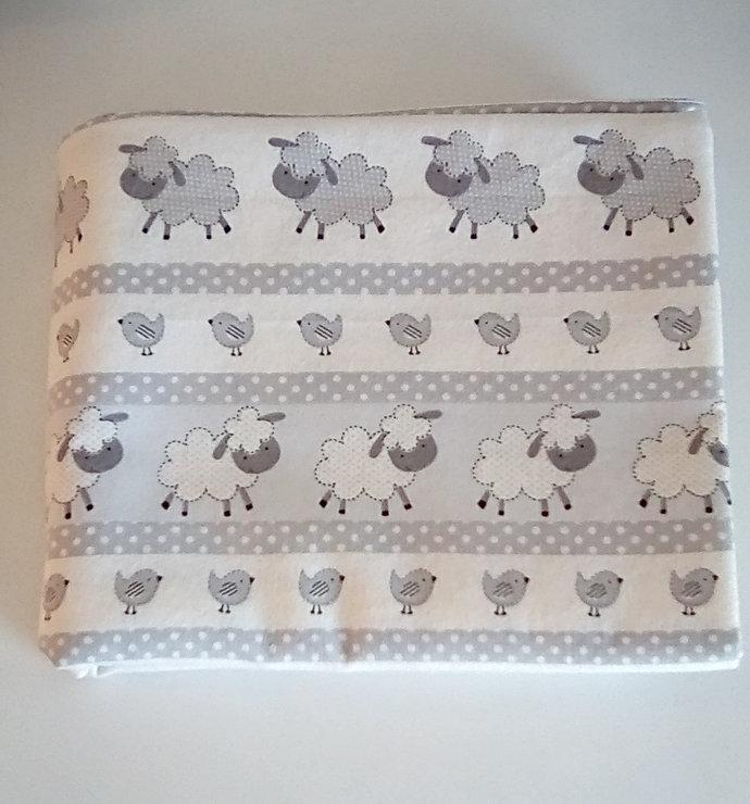 Lamb swaddling receiving crib blanket