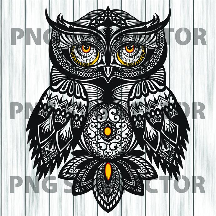 Owl mandala svg, Owl mandala clipart, Owl mandala vector, Owl mandala cutting