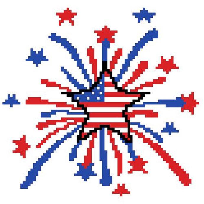 Patriotic Starburst C2C Crochet Pattern Corner to Corner Baby Blanket Child
