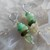 Chrysoprase Dangle Earrings 1 3/4 inch Lever Back Goddess Green Jewelry by
