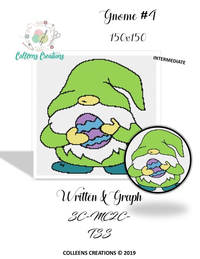 Gnome #4 Crochet Graph and Written Design
