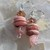 Darling Rose Quartz & Rhodochrosite Dangle Earrings with Czech Crystals Natural