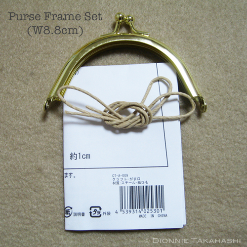 Purse Frame 8.8 cm - Gold / Set with Instruction