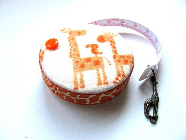 Tape Measure Orange Giraffes Small Retractable Tape Measure