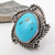 Big Turquoise Sterling Silver Ring - Southwestern Jewelry