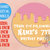 Ice Cream Birthday Party Pink Strawberry WaffleCone Melted Ice Cream Round Label
