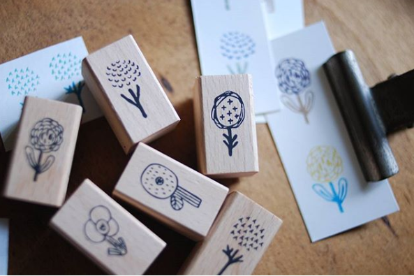 Evakaku stamps - Flora -  wooden stamps from Taiwan - perfect for Travelers