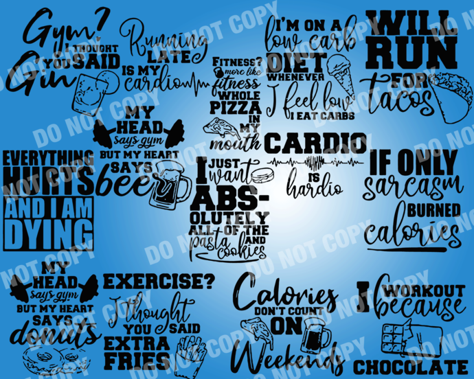 Funny Gym Quote SVG, digital file,svg clipart,Cut File