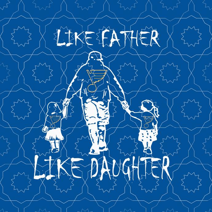 Like father like daughter svg, Play Gloria, Play Gloria Svg, St Louis Hockey