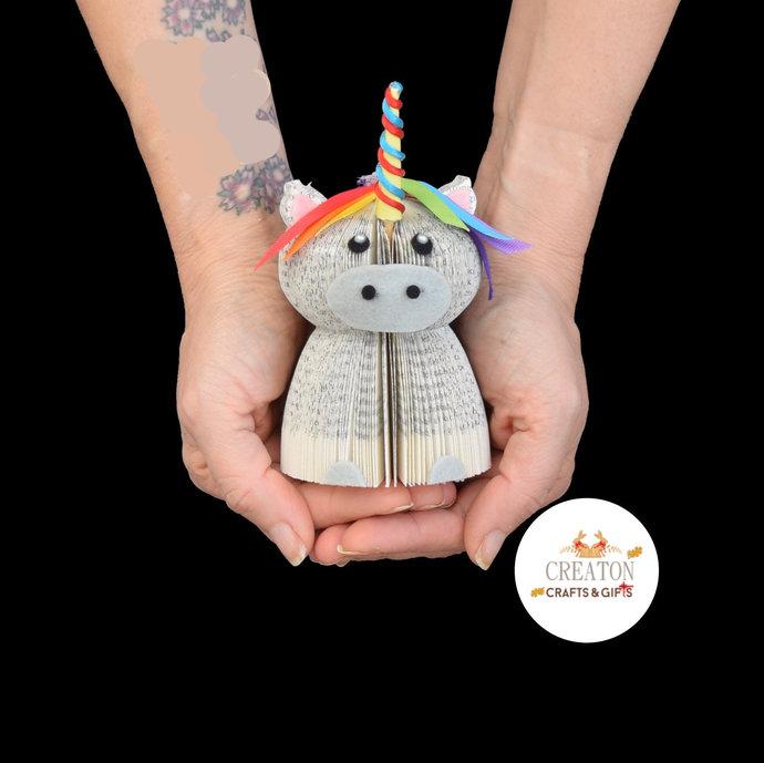 Miniature Unicorn Ornament - Unicorn Gift - Unicorn book art - Presentation Box
