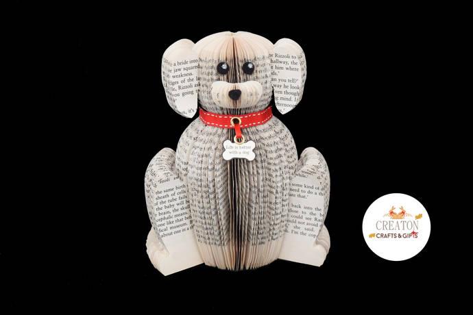 Personalised Dog Gift - Handmade Dog - Book Art - Gift for Dog Lover - Dog Gifts