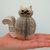 Miniature Cat Ornament - Book Art Cat - Presentation Box - 1st anniversary gift