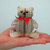 Miniature Teddy Bear ornament -Book Art - Presentation Box - Freestanding  Ted