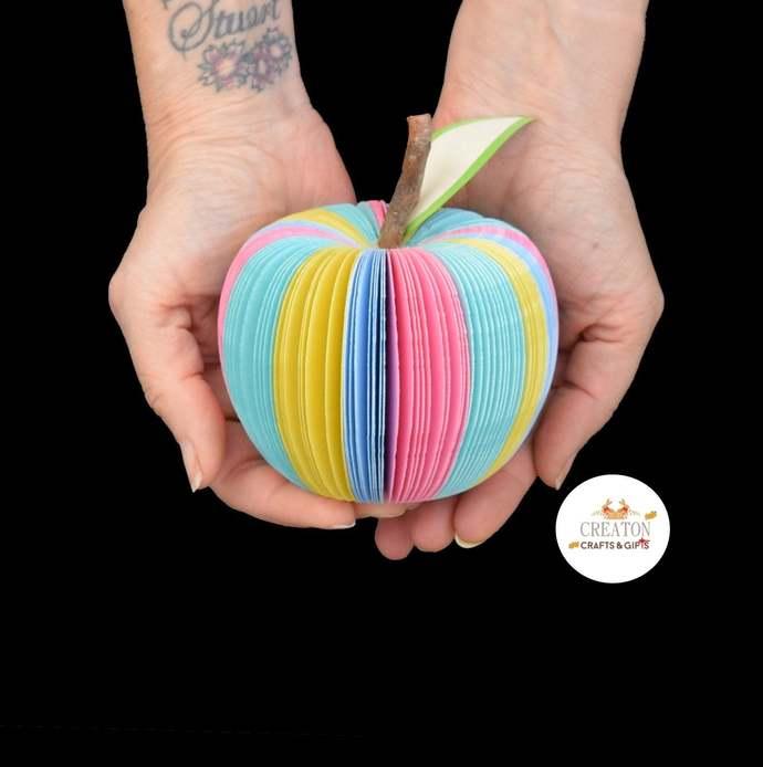 Pastel Apple - Teacher Gift - Pastel Rainbow -  Personalised Gift - Thank you