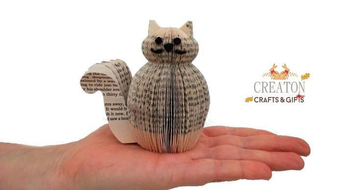 Harry Potter Gift - Crookshanks - Miniature Cat Ornament - Made from Harry