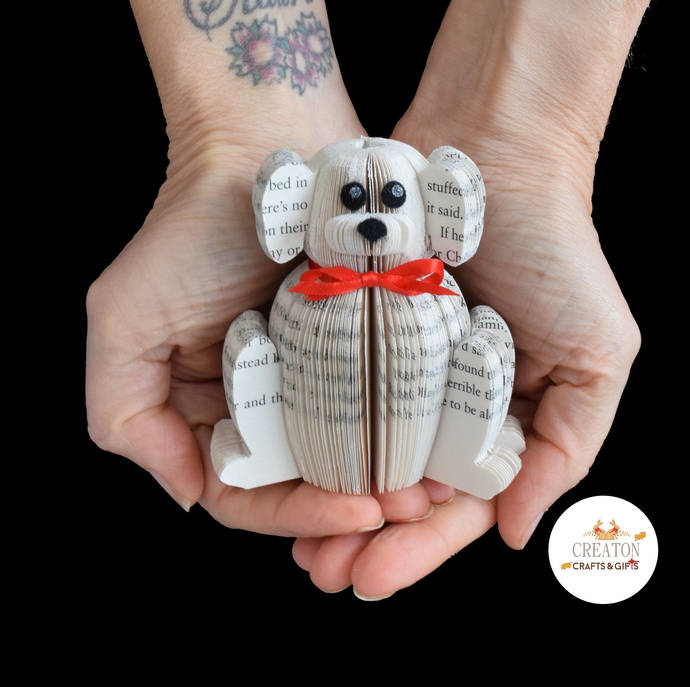 Mini Dog Gift - Handmade Dog - Book Art - Gift for Dog Lover - Dog Gifts - Free