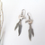 Vintage Southwestern Sterling Silver Bear Fetish Earrings with Dangling Feathers