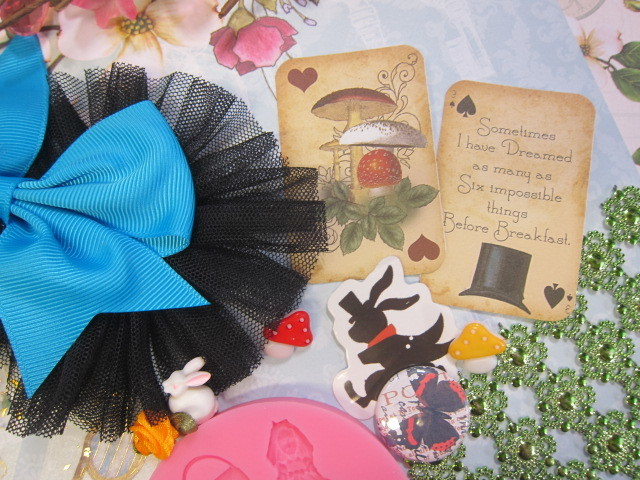 Alice In Wonderland Scrapbook Journaling Cardmaking Inspirational Kit