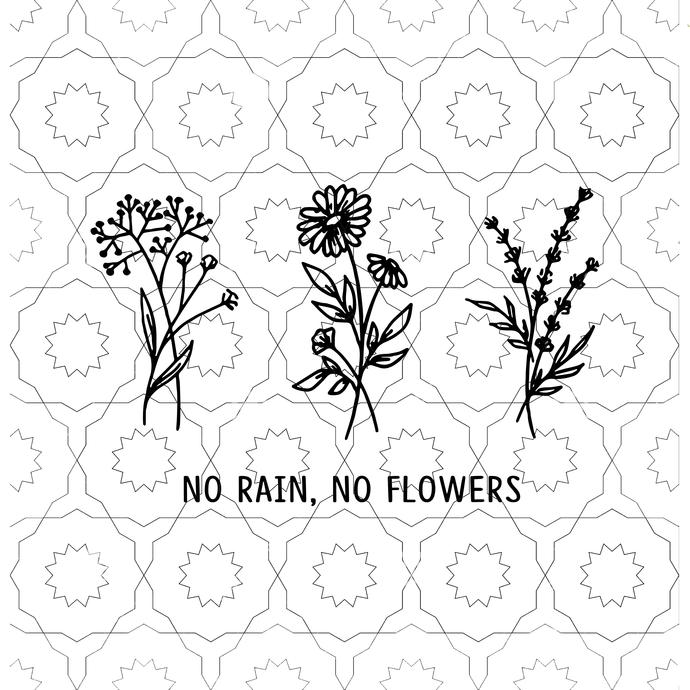 Garden Svg, No Rain No Flowers Svg, Flower svg,Nature Wildlife Plants Flower