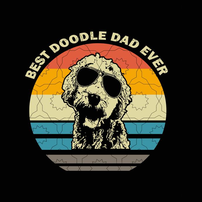 Best Doodle Dad Ever svg, Goldendoodle Dad Best Doodle Dad Ever SVG, father's