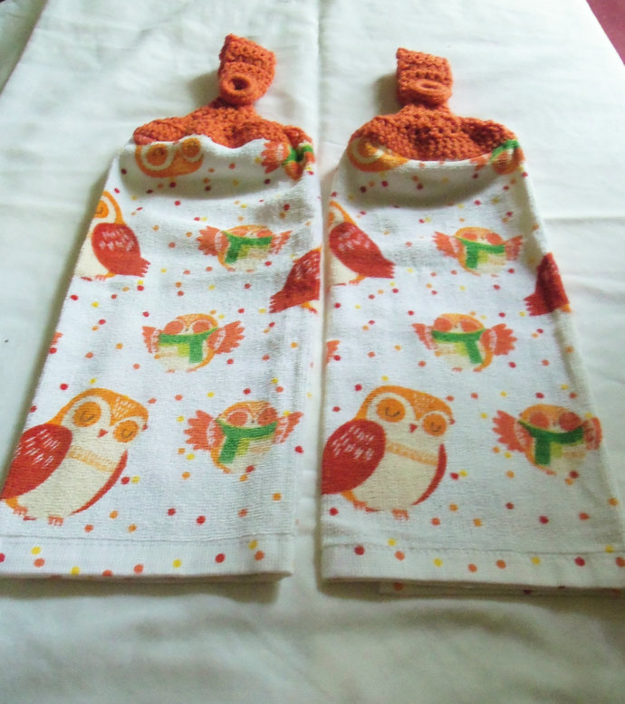 Mama & Baby Owls Fall Design Kitchen Hanging Towels Med Quality (2)