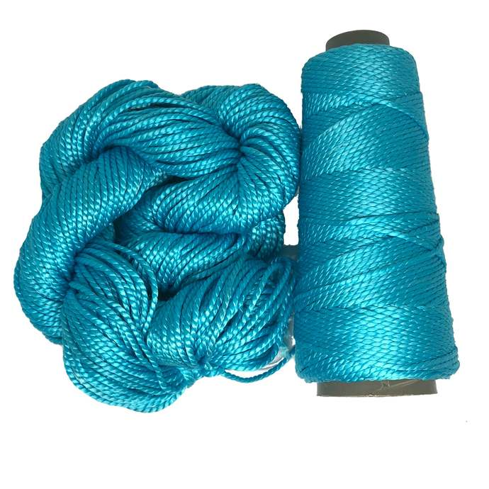 Knitsilk 2 ply Mulberry Silk Yarn - Teal Color, 50 Grams, 75 Yards, Great for
