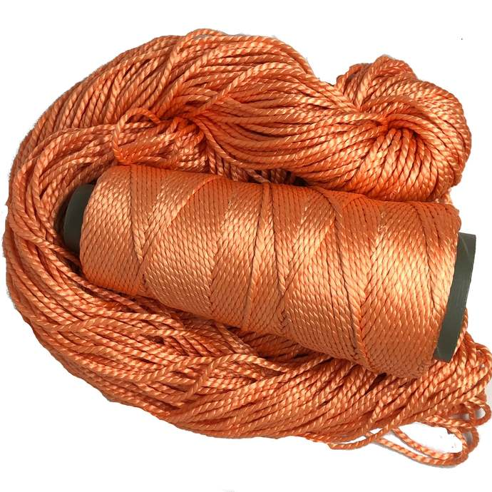 Knitsilk 2 ply Mulberry Silk Yarn - Peach Color , 50 Grams, 75 Yards, Great for