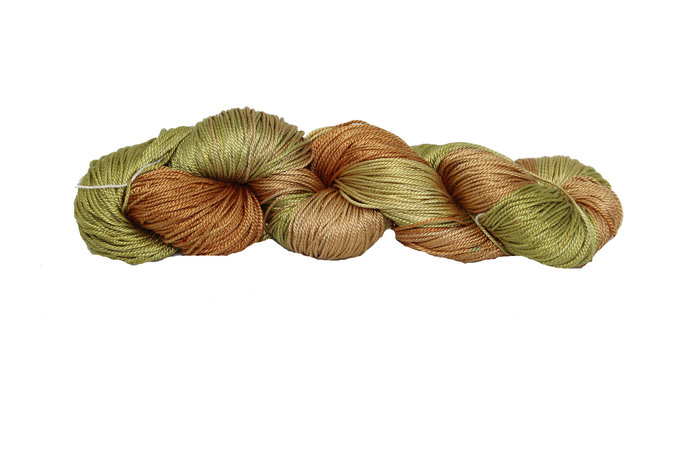 Mulberry Silk 3-ply hand Tie and Dyed yarn (50 Grams)