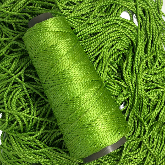 Knitsilk 2 ply Mulberry Silk Yarn - Green Color, 50 Grams, 75 Yards, Great for
