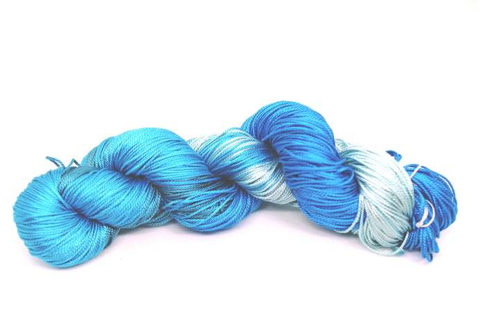 Mulberry Silk 3-ply hand Tie and Dye yarn (50 Grams)