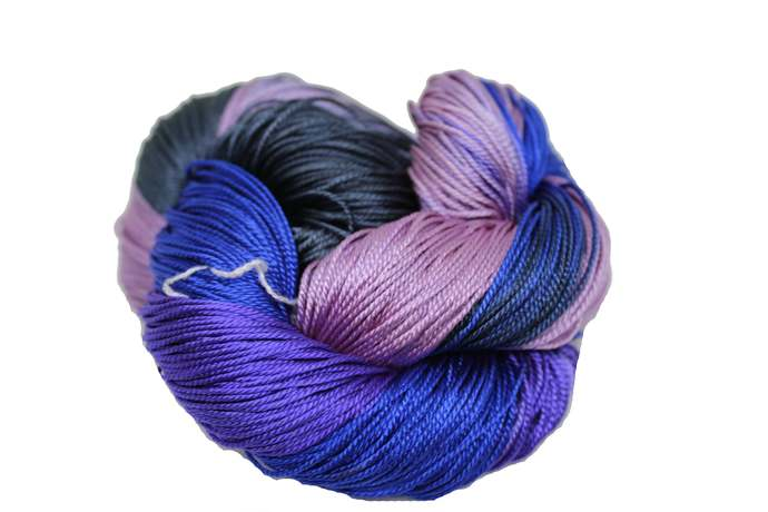 Knitsilk 100% Pure Mulberry Silk 3-ply hand Tie and Dyed yarn (50 Grams, 260