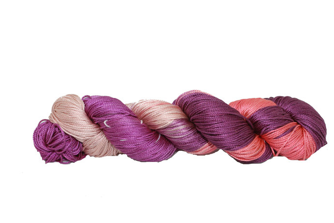 Mulberry Silk 3-ply hand Tie and Dyed yarn - 100% Pure Mulberry Silk Yarn 50