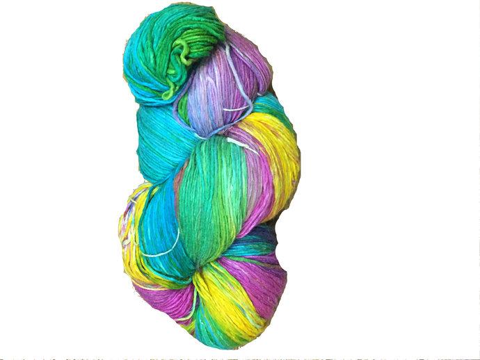 Mulberry Silk Roving Yarn | Hand Tie & Die Yarn | 325 yards