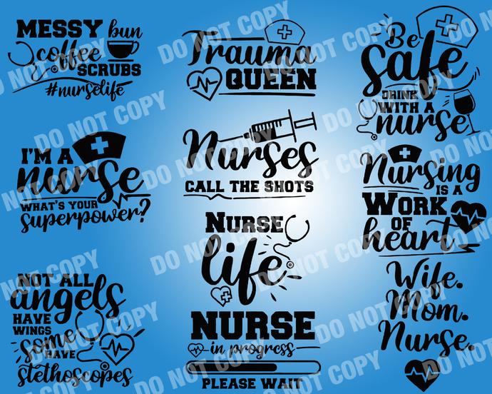Nurse Quote SVG, digital file,svg clipart,Cut File