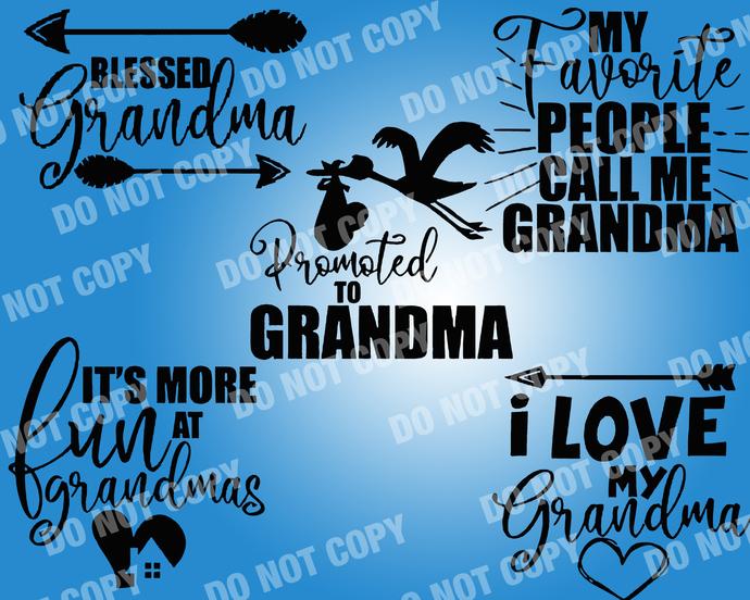 Grandma I love Grandma Quote SVG, digital file,svg clipart,Cut File  Bundle,Cricut,Cameo,Silhouette,printable art,vector print,svg Bundle