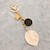 Upcycled Louis Vuitton leaf Keychain - Repurposed Authentic Louis Vuitton -